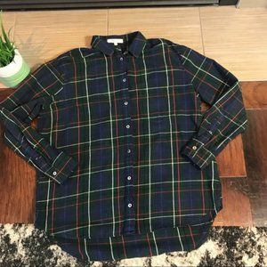 Madewell Plaid Cotton Button-Down Shirt Size Small